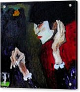 Absinthe Drinker After Picasso Acrylic Print