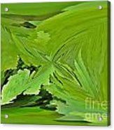 Abstract - Rectangle - Linear Verte Acrylic Print