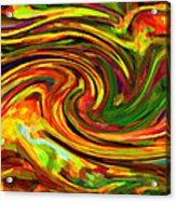 Abstract 17 Acrylic Print by Kenny Francis