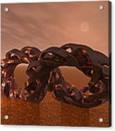 Abstract 331 A 3d Copper Sculpture Acrylic Print