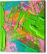 Abstract 6814 Diptych Cropped Xvi  Acrylic Print