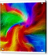 Abstract - Amorphous 1 - Fractal Acrylic Print by Steve Ohlsen