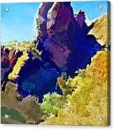 Abstract Arizona Mountain Peak In Autumn Acrylic Print