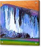 Abstract Arizona Mountains At Icy Dawn Acrylic Print