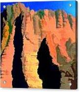 Abstract Arizona Mountains At Sunset Acrylic Print
