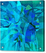 abstract - art- Blue for You Acrylic Print