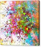 abstract art COLOR SPLASH on Square Acrylic Print