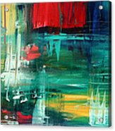 Abstract Art Colorful Original Painting Bold And Beautiful By Madart Acrylic Print