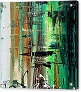 Abstract Art Colorful Original Painting Green Valley By Madart Acrylic Print