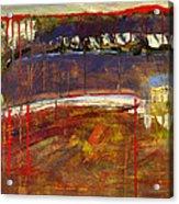 Abstract Art Landscape Acrylic Print by Blenda Studio
