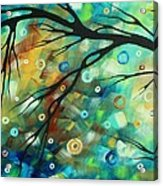 Abstract Art Landscape Circles Painting A Secret Place 2 By Madart Acrylic Print