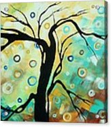 Abstract Art Landscape Circles Painting A Secret Place 3 By Madart Acrylic Print