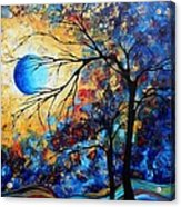Abstract Art Landscape Metallic Gold Textured Painting Eye Of The Universe By Madart Acrylic Print