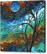 Abstract Art Original Colorful Painting Mystery Of The Moon By Madart Acrylic Print