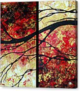 Abstract Art Original Landscape Painting Bring Me Home By Madart Acrylic Print by Megan Duncanson