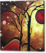 Abstract Art Original Landscape Painting Catch The Rising Sun By Madart Acrylic Print