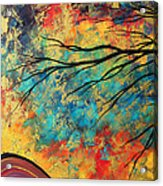 Abstract Art Original Landscape Painting Go Forth I By Madart Studios Acrylic Print