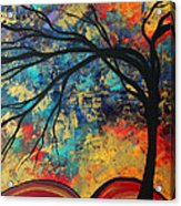 Abstract Art Original Landscape Painting Go Forth II By Madart Studios Acrylic Print