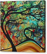 Abstract Art Original Landscape Wild Abandon By Madart Acrylic Print