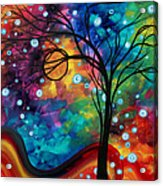 Abstract Art Original Painting Winter Cold By Madart Acrylic Print