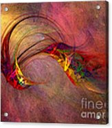 Abstract Art Print Hummingbird Acrylic Print