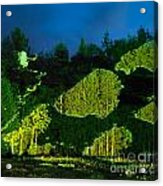 Abstract Art Projection Over Night Nature Scenery Acrylic Print
