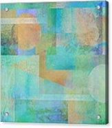 abstract art Tahitian Blue Acrylic Print