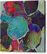 Abstract Art Torn Collage  Acrylic Print by Ann Powell