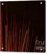 Abstract Background Of Red Sticks Acrylic Print