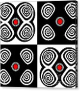 Abstract Black White Red Op Art Minimalism No.217  Acrylic Print by Drinka Mercep