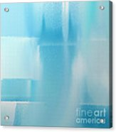 Abstract Blue 2 Square Acrylic Print