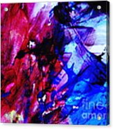 Abstract Blue And Pink Festival Acrylic Print by Andrea Anderegg