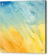 Abstract Blue And Yellow Acrylic Print