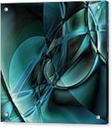 Abstract Blue Acrylic Print