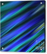 Abstract Blue Green Diagonal Blur Acrylic Print