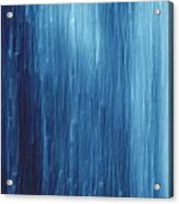 Abstract Blue Rain Acrylic Print