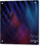 Abstract Blue Red Green Diagonal Blur Acrylic Print