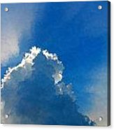 Abstract Blue Sky And Cloud Acrylic Print