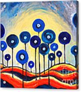 Abstract Blue Symphony  Acrylic Print
