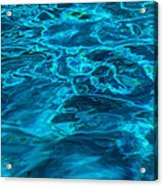 Abstract Blue Water Acrylic Print