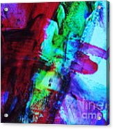 Abstract Bold Colors Acrylic Print by Andrea Anderegg