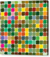 Abstract Bright Colorful Seamless Acrylic Print