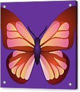Butterfly Graphic Orange Pink Purple Acrylic Print