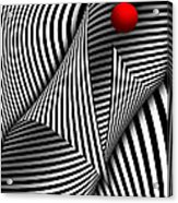 Abstract - Catch The Red Ball Acrylic Print by Mike Savad