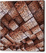 Abstract Ceiling Stone Construction  Acrylic Print