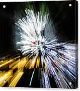 Abstract Christmas Lights - Burst Of Colors Acrylic Print