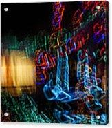 Abstract Christmas Lights - Color Twists And Swirls  Acrylic Print