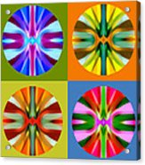 Abstract Circles And Squares 1 Acrylic Print