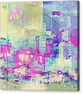 Abstract City Acrylic Print by Mark-Meir Paluksht