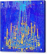 Abstract Cobalt Blue Chandelier Acrylic Print